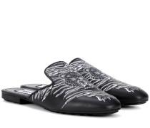 Slippers aus Leder