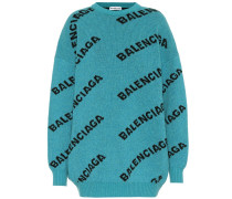 Pullover mit Intarsienmuster aus Wolle