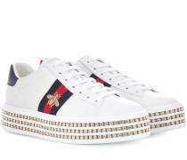 Plateau-Sneakers Ace aus Leder
