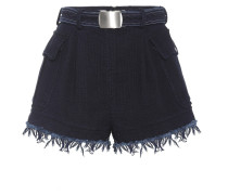 Distressed High-Rise Shorts aus Baumwolle