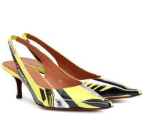 Slingback-Pumps Race aus Lackleder