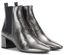 Ankle Boots Loulou aus Metallic-Leder