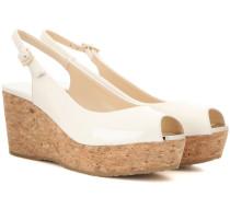 Wedge-Sandalen Praise aus Lackleder