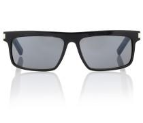 Rechteckige Sonnenbrille aus Acetat