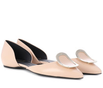 Ballerinas Dorsay aus Leder