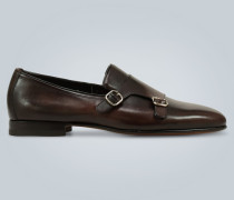 Monkstrap-Loafers aus Leder