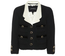 Cropped-Jacke aus Wolle