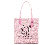 X Keith Haring bedruckte Tote aus Canvas