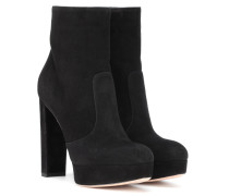 Ankle Boots Brook aus Veloursleder