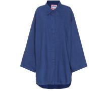 Bluse Blå Konst Mazion aus einem Baumwollgemisch