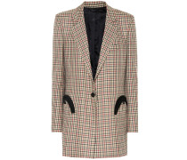 Karierter Everyday Blazer aus Wolle