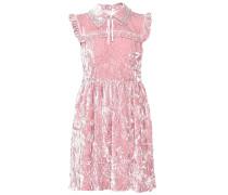 Kleid aus Samt in Knitteroptik