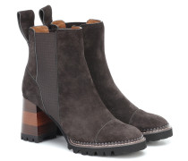 Ankle Boots Mallory aus Veloursleder