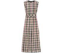 Kariertes Kleid aus Georgette