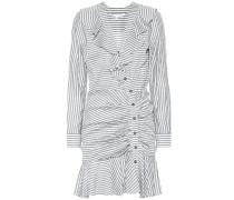 Gestreiftes Kleid aus einem Baumwollgemisch
