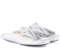 Loafers Gommino aus Metallic-Leder