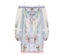 Off-Shoulder-Kleid aus Leinen