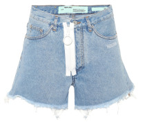 Cropped Shorts aus Baumwolle