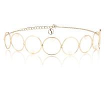 Halskette Encerlée aus 14kt Gelbgold mit Perlen