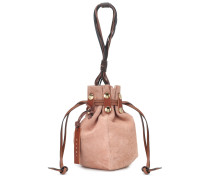 Bucket-Bag aus Veloursleder