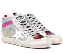 Sneakers Mid Star mit Glitter