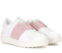 Leder-Sneakers Open