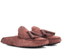 Slippers Gommino aus Veloursleder