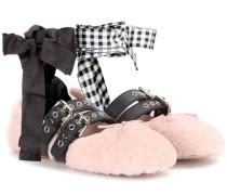 Ballerinas aus Shearling