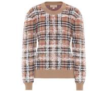 Karierter Pullover aus Merinowolle