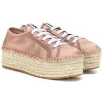 Espadrille-Sneakers aus Satin