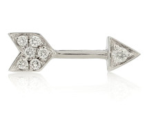 Einzelner Ohrring Diamond Arrow aus 18kt Weißgold