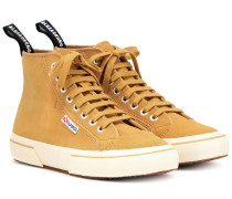 X SUPERGA® High-Top-Sneakers aus Veloursleder
