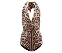 Badeanzug mit Leoparden-Print