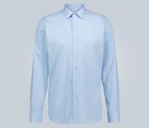 Slim-Fit Anzughemd aus Baumwolle