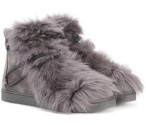 Ankle Boots Inuit mit Pelzbesatz