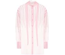 Verzierte Bluse aus Seide