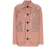 Verzierte Jacke aus einem Baumwollgemisch
