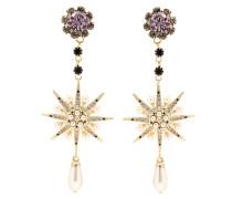 Clip-Ohrringe mit Perlen und Kristallen