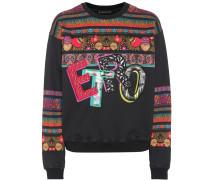 Bedrucktes und besticktes Sweatshirt