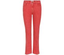 Mid-Rise Jeans Le Color Crop Mini Boot