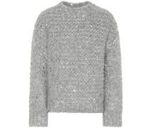 Verzierter Pullover aus einem Mohairwollgemisch