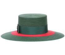 Hut mit Ripsbandbesatz