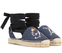 Espadrilles Lace Up Blooming RV