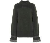 Pullover mit Stehkragen aus Wolle