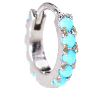 Ohrring Turquoise Eternity Ring aus 14kt Weißgold