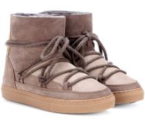 Boots Patchwork aus Veloursleder