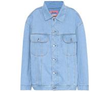 Oversize-Jeansjacke Blå Konst