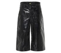 High-Rise-Shorts aus Leder