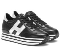 Plateau-Sneakers H222 aus Leder