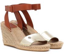 Wedges-Sandalen aus Leder